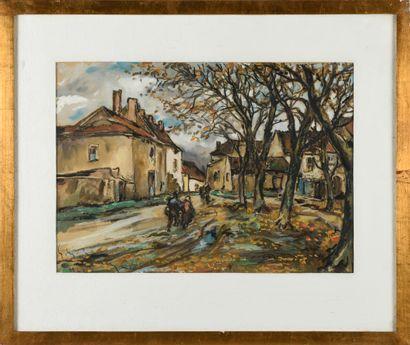 MENETRIER (XXème)  Dans le bourg de Salornay...