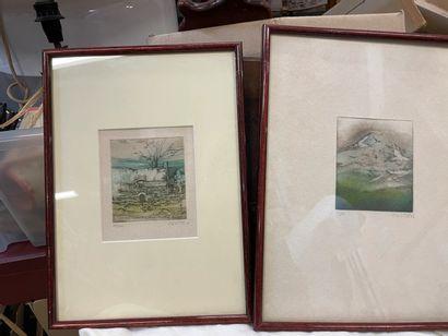 C. DE LA PUNTA, 2 litographies numérotées et signées