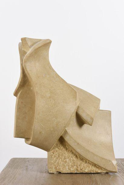 Vincent GONZALEZ (1928-2019)  Animal stylisé,  Pierre de Bourgogne,  H: 49 cm;...