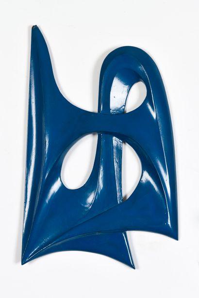 Vincent GONZALEZ (1928-2019)  Trois plaques en bois sculpté double face, regards,...