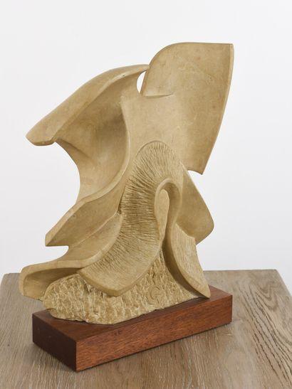 Vincent GONZALEZ (1928-2019)  Composition fémine,  Pierre de Bourgogne sculptée,...