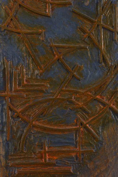 Vincent GONZALEZ (1928-2019)  Bois sculpté polychrome,  53 x 22,5 cm