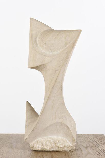 Vincent GONZALEZ (1928-2019)  Composition abstraite,  Pierre calcaire,  Monogrammée,...