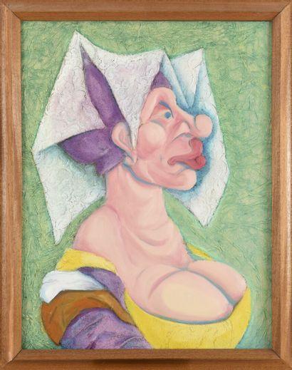 Vincent GONZALEZ (1928-2019)  La belle Tacherette,...