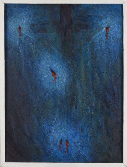 Vincent GONZALEZ (1928-2019)  Crucifixion,...