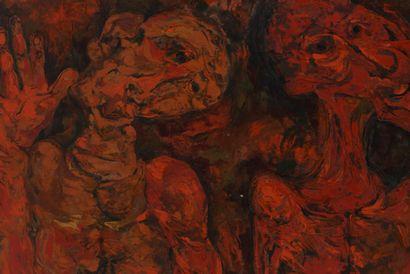 Vincent GONZALEZ (1928-2019)  3 têtes rouges...