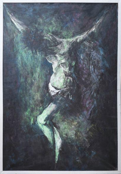 Vincent GONZALEZ (1928-2019)  Christ en croix,...