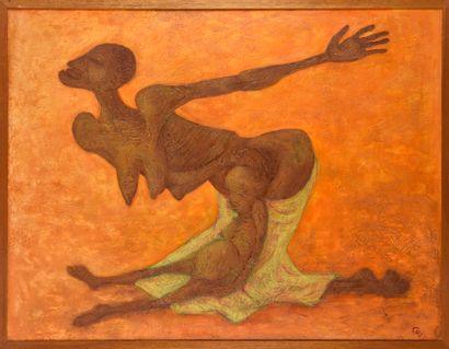 Vincent GONZALEZ (1928-2019)  Femme et enfant,...