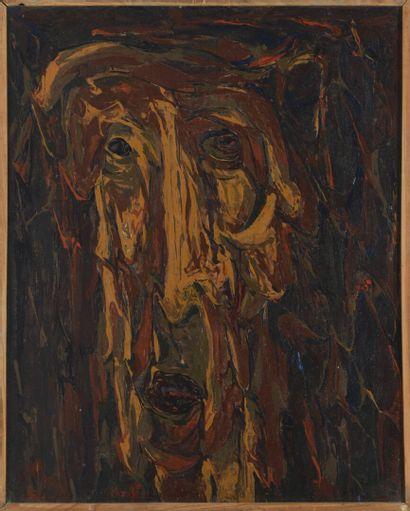 Vincent GONZALEZ (1928-2019)  Portrait,  Huile...
