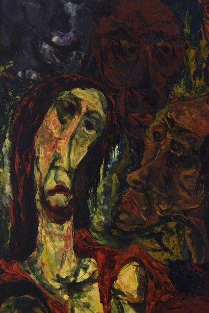 Vincent GONZALEZ (1928-2019)  Le Christ insulté...