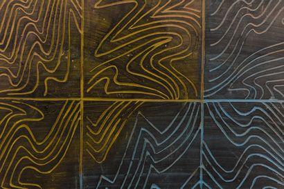 Vincent GONZALEZ (1928-2019)  Panneau gravé...