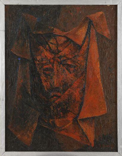 Vincent GONZALEZ (1928-2019)  Visage,  Huile...
