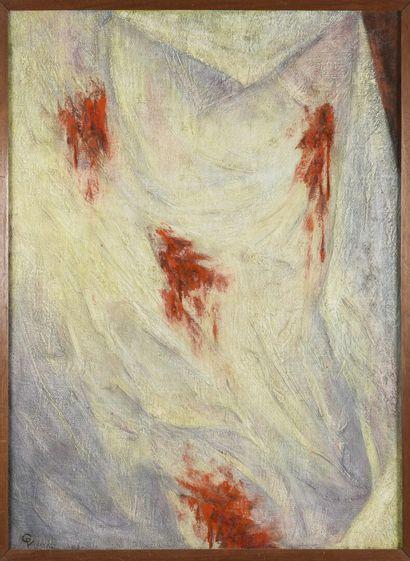 Vincent GONZALEZ (1928-2019)  Le drap taché...