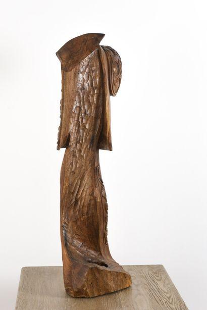 Vincent GONZALEZ (1928-2019)  Matador en chêne sculpté,  Monogrammé en bas  90 x...