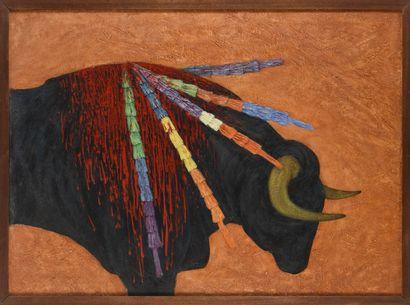Vincent GONZALEZ (1928-2019)  Le taureau,...