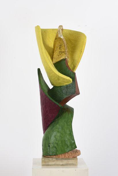 Vincent GONZALEZ (1928-2019)  Fleur en chêne...