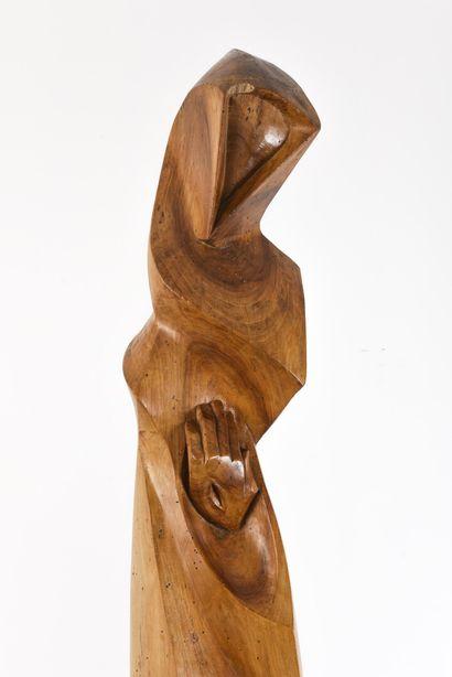 Vincent GONZALEZ (1928-2019)  Saint François,  H: 166cm; L: 30cm