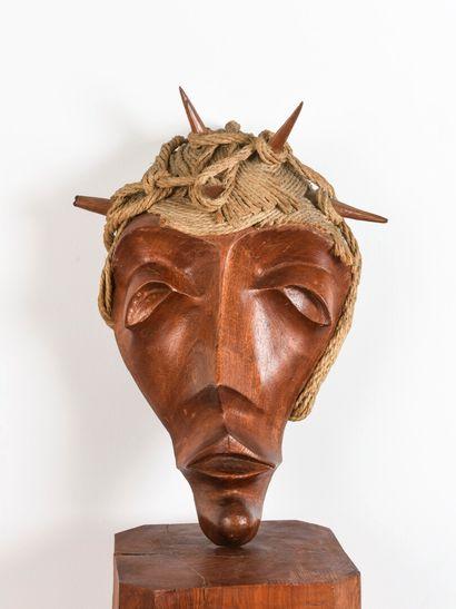 Vincent GONZALEZ (1928-2019)  Figure de Christ...