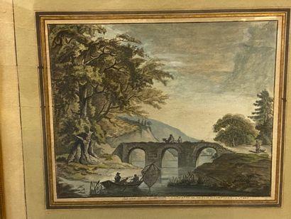 Guillemette de ROSAMBO  Paysage au pont,...