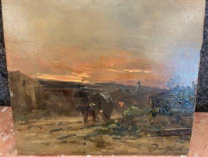 Dans le gout de JONDKIND  paysage au soleil...