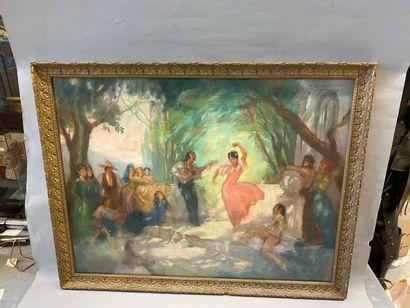 Gaston DE CIRMEUSE (1886-1963)  Les dansesues...