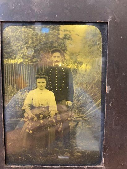 Autochrome lumière, portrait d'un couple...