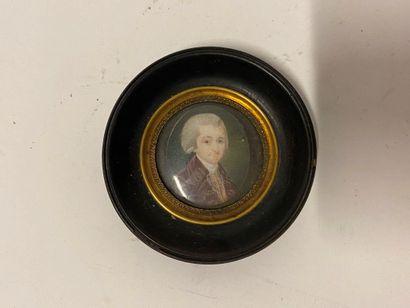 Miniature 18ème : portrait d'homme en perruque...
