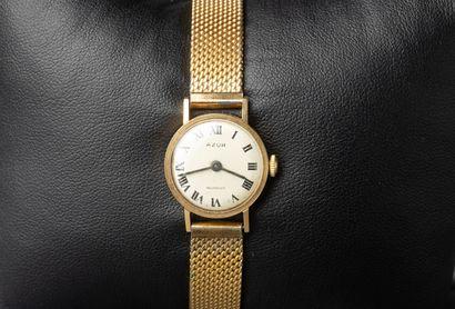 AZUR, montre de dame en or, mouvement mécanique,...
