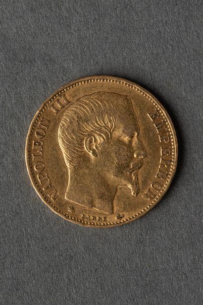 Pièce de 20 francs en or jaune, Napoléon...