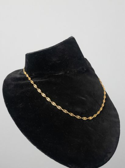 Collier en or jaune  Pds : 8, 30 gr