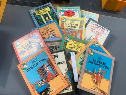 [Bandes-dessinées]. Hergé. Tintin. Un ensemble...