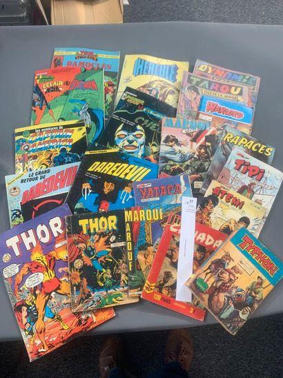 [Bandes-dessinées]. Un lot de 20 comics et...
