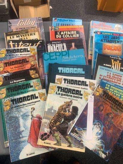 [Bandes-dessinées]. 22 dont: Thorgal, Buck...