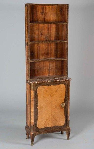 Bibliothèque haute d'entre-deux en bois de...