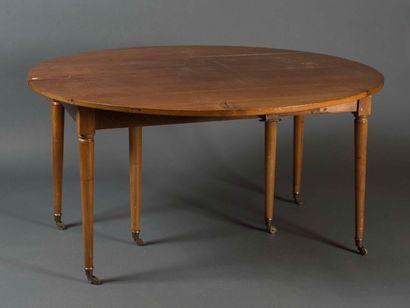 Table de salle à manger à volets en bois...