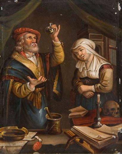 Ecole flamande dans le goût du 17ème siècle