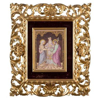 Le mariage de la Vierge peinture sur porcelaine...