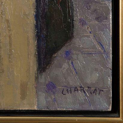 Louis CHARRAT (1903-1971) Nature morte à la panière de fruits Huile sur toile Signée...