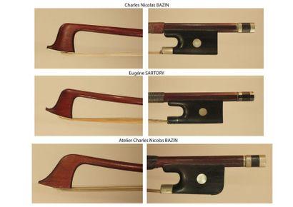 Archet de violon de C.N Bazin Monté maillechort...