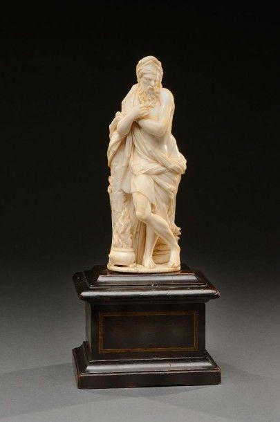 Les quatre saisons Suite de quatre sujets en ivoire sculpté en ronde-bosse le ballet...