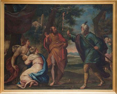 Moïse sauvé des eaux toile 89 x 112 cm