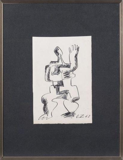 Ossip ZADKINE (1890-1967) Dessin à l'encre...