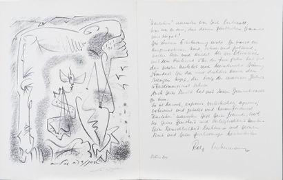 André MASSON (1896-1987) EPITAPH KARL AMADEUS...