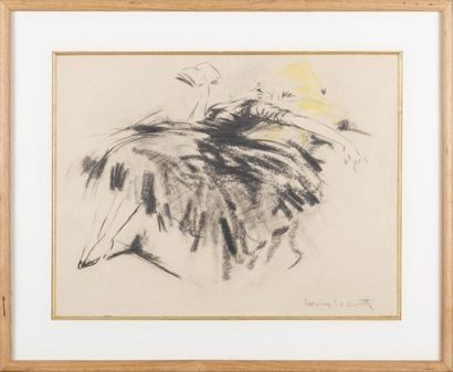 Louis ICART (1888-1950) Femme allongée lisant....