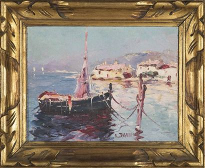 Serge IVANOFF (1893-1983) Les Martigues Huile...