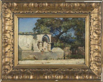 Ferdinand LUGINI (1870-1943) Vue d'une maison...
