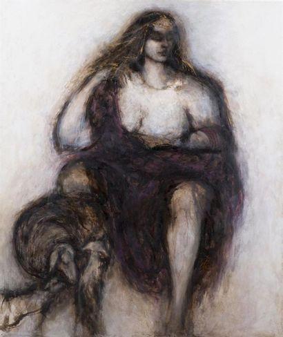 Hélène BERTON (Xxème siècle) Portrait de...