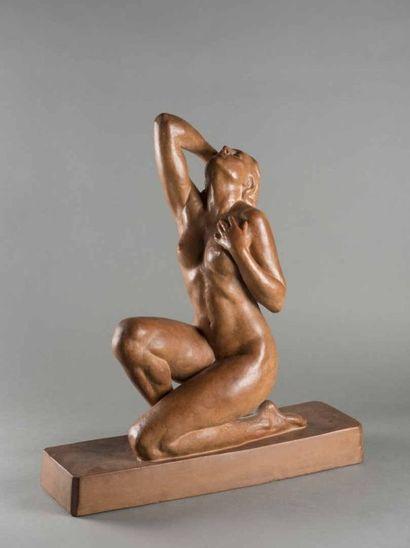 Ugo CIPRIANI (1887-1960). Femme nue en pose...