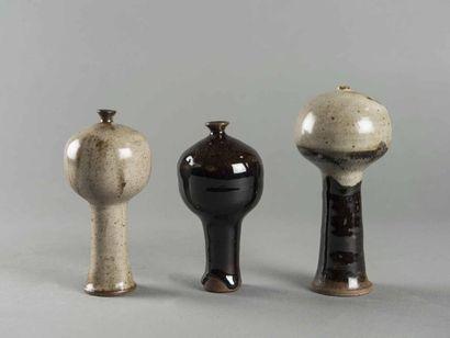 Jacky COVILLE (né en 1936) 3 vases bulbés...
