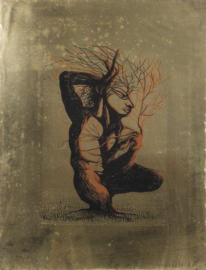 Jean MARAIS (1913-1998) L'homme arbre Lithographie...